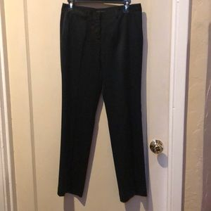 Theory like new satin straight leg pants/black